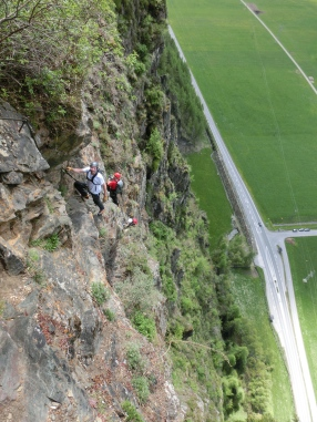 Patruckel am Reinhard Schiestl-Klettersteig im Ötztal