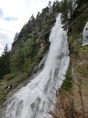 Am Stuibenfall-Klettersteig im Ötztal