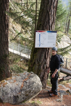 Patruckel am Jubiläumsklettersteig Lehner Wasserfall