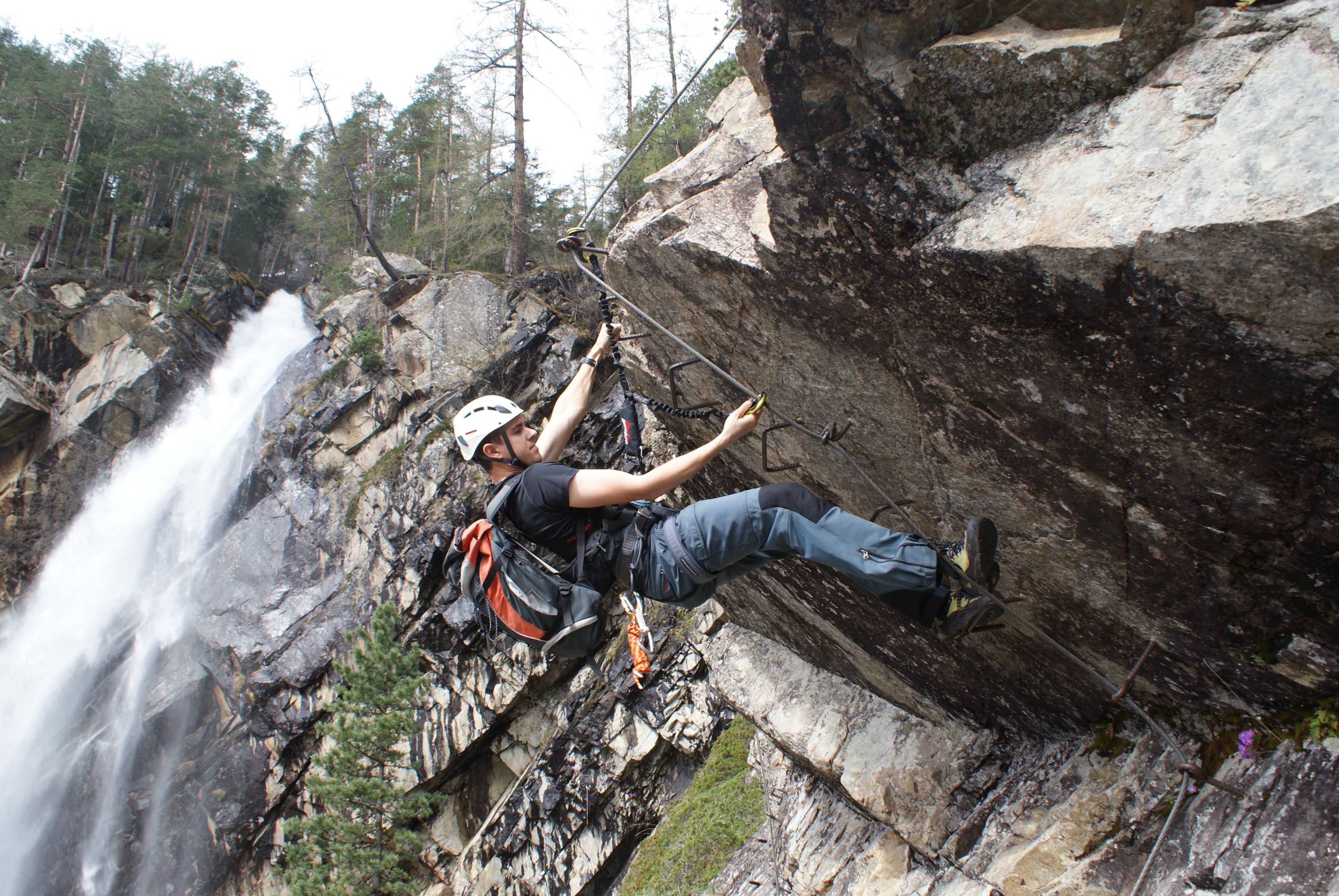 Klettersteig Oetztal : Unsere klettersteigpremiere 2013: der lehner wasserfall c im