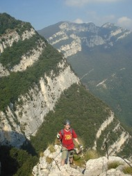 Patruckel am Klettersteig Gerardo Sega