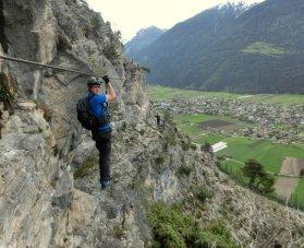 Patruckel am Crazy Eddy Klettersteig