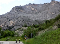 Patruckel am Klettersteig Che Guevara