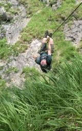 Dreiseilbrücke - Hausbachfall Klettersteig