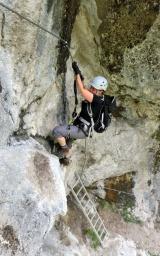 Einstiegsleiter - Hausbachfall Klettersteig