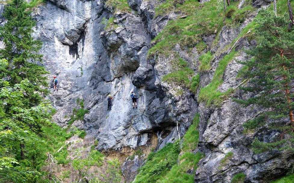 Klettersteig Hausbachfall : Grüß gott am hausbachfall c patruckel