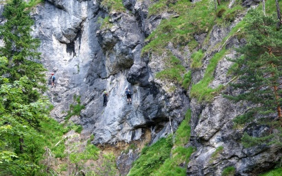Die Wand - Hausbachfall Klettersteig