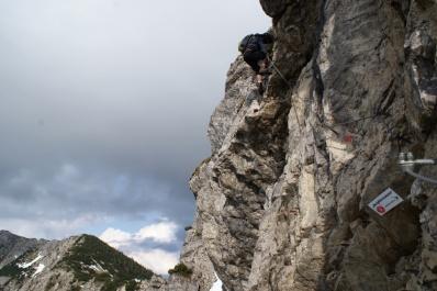 Patruckel am Salewa Klettersteig, Oberjoch