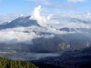 Blick vom Tajatörl über Ehrwald