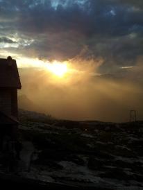 Sonnenuntergang am Rifugio Tuckett