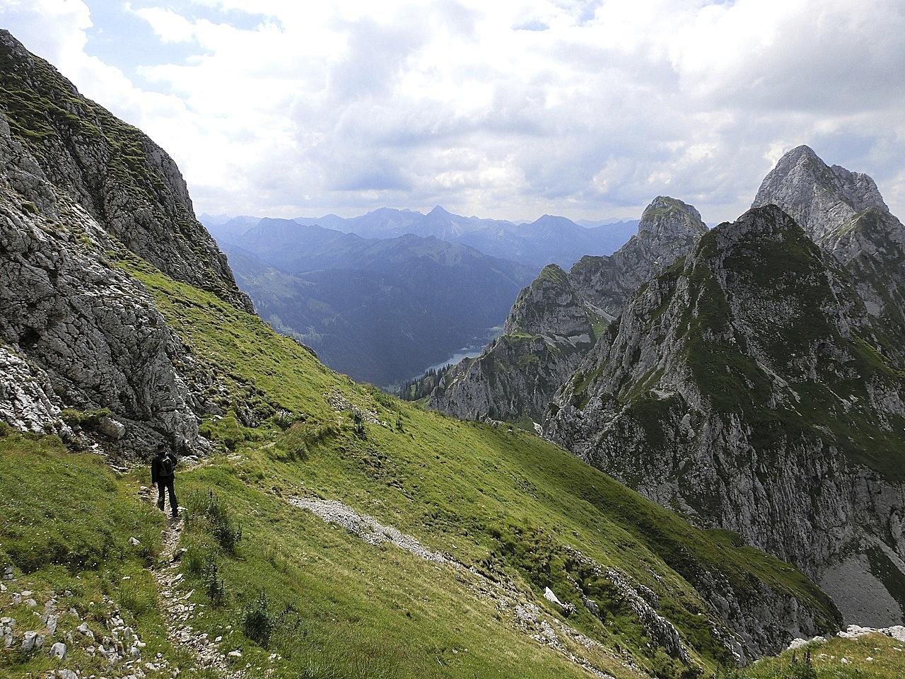 Klettersteig Köllenspitze : Gar nicht mal so ohne der köllenspitze klettersteig d patruckel