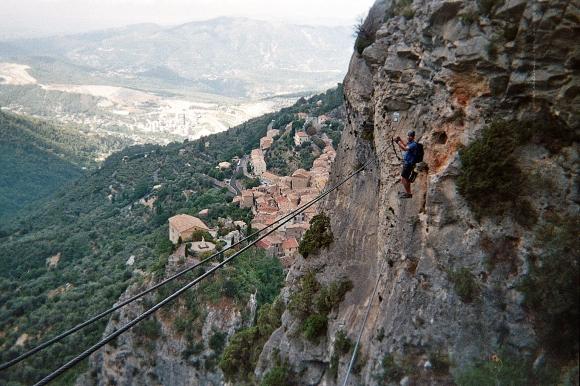 Via ferrata L'Escale, Peille