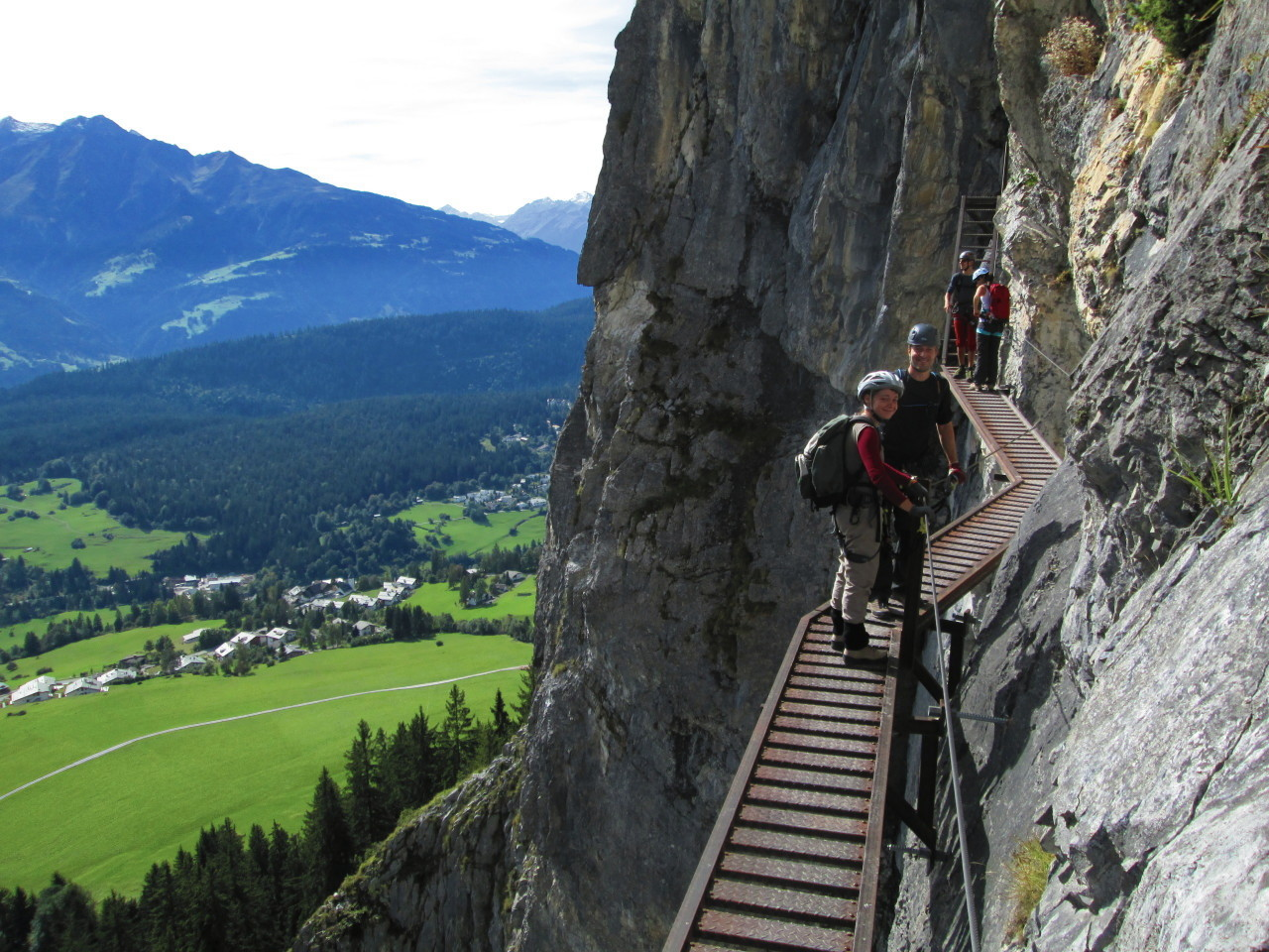 Klettersteig Pinut : Klettersteig pinut fidaz u historischer ch