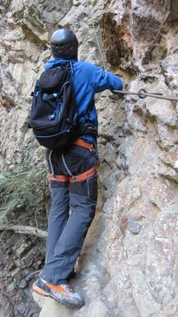 Patruckel am Klettersteig Via Örfla
