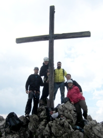 Gipfel am Kanzelwand Klettersteig