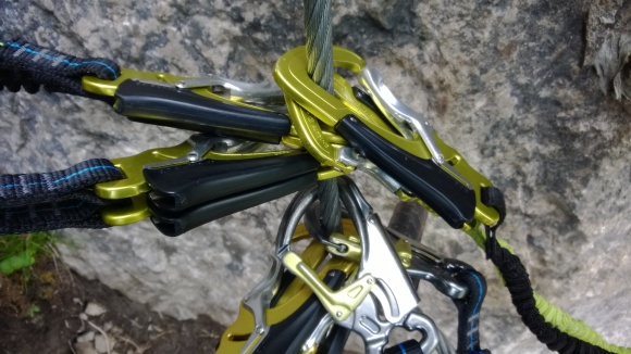 Klettersteig-Karabiner