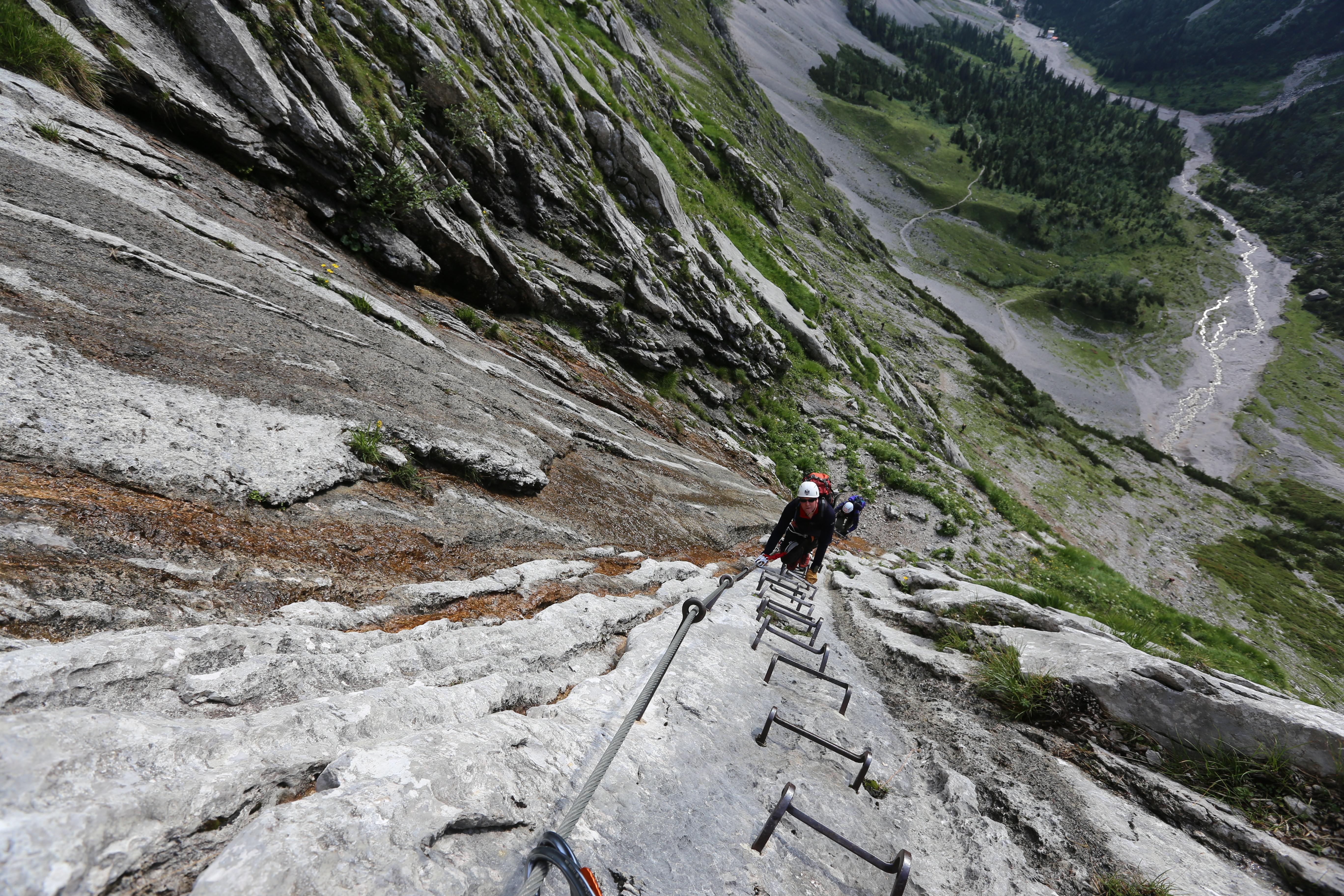 Klettersteig Deutschland : Klettersteig zugspitze patruckel