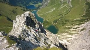 Klettersteig Lachenspitze : Eine allgäuer klettersteig perle: die lachenspitze nordwand c d