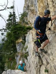 Belay Kit am Klettersteig Via Kapf