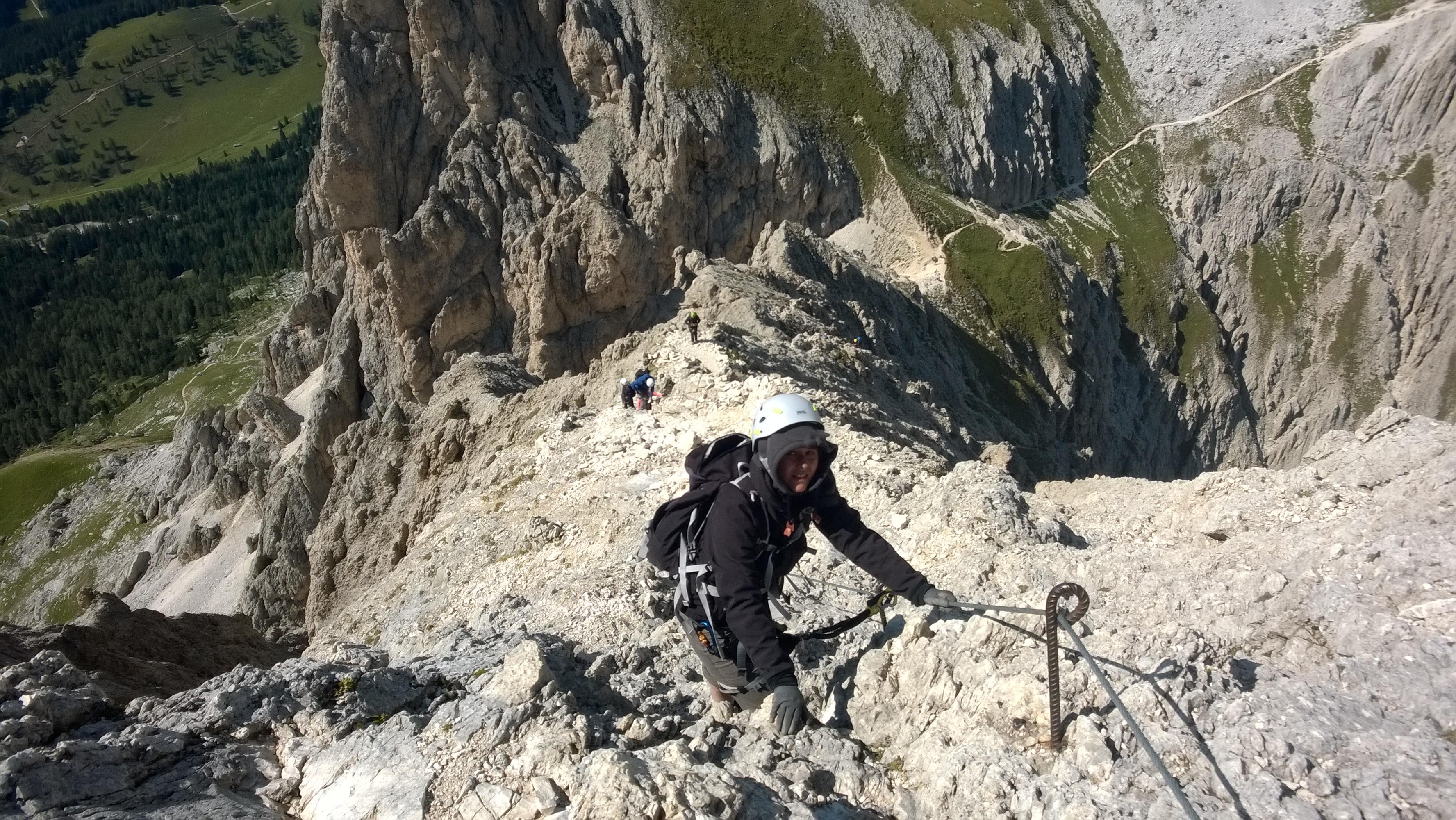 Klettersteig Rosengarten : Die klettersteige masaré und rotwand im rosengarten b c patruckel
