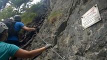 Via Kapf Klettersteig Einstieg