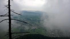 Via Kapf Klettersteig Ausslicht Rheintal Nebel