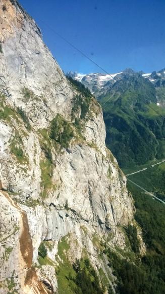 Blick auf den Fürenwand Klettersteig