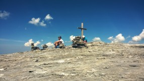 Am Rotstock-Gipfel