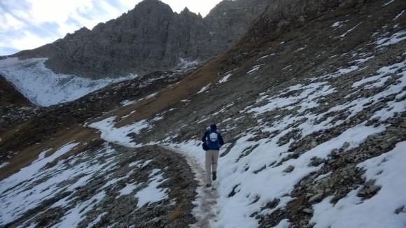 Zustieg Wartherhornsattel zum karhorn klettersteig