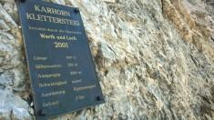 Karhorn Klettersteig Tafel