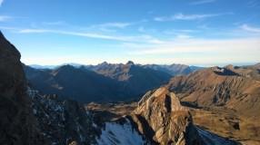 Aussicht am Karhorn Ostgrat Klettersteig